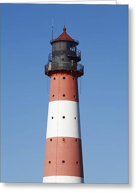 Top Of The Lighthouse Westerhever Greeting Card by Olaf Schulz