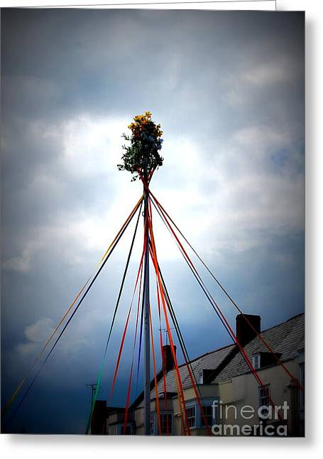 Top Of The Maypole Greeting Card