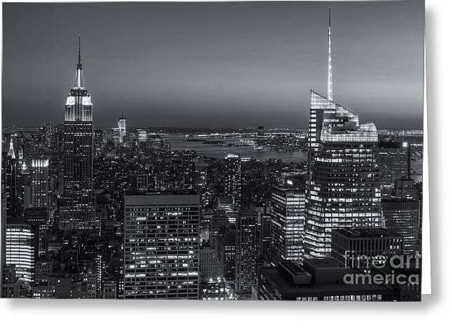 Top Of The Rock Twilight V Greeting Card by Clarence Holmes