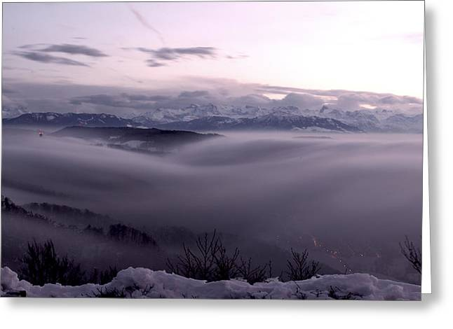 Top Of Zurich Greeting Card by Florian Strohmaier