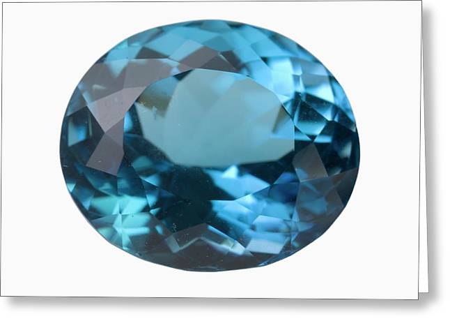 Topaz Gem Greeting Card by Science Stock Photography/science Photo Library