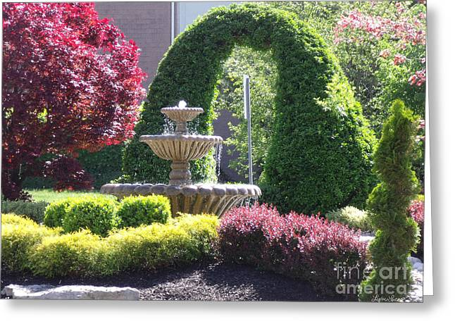 Topiary Garden Greeting Card by Lyric Lucas