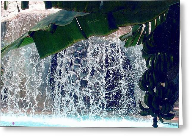 Greeting Card featuring the photograph Topical Water Fall by Judy Palkimas