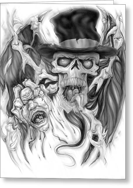 Topped Hat Greeting Card by Mike Royal