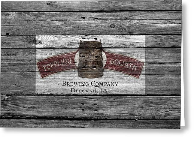 Toppling Goliath Greeting Card by Joe Hamilton