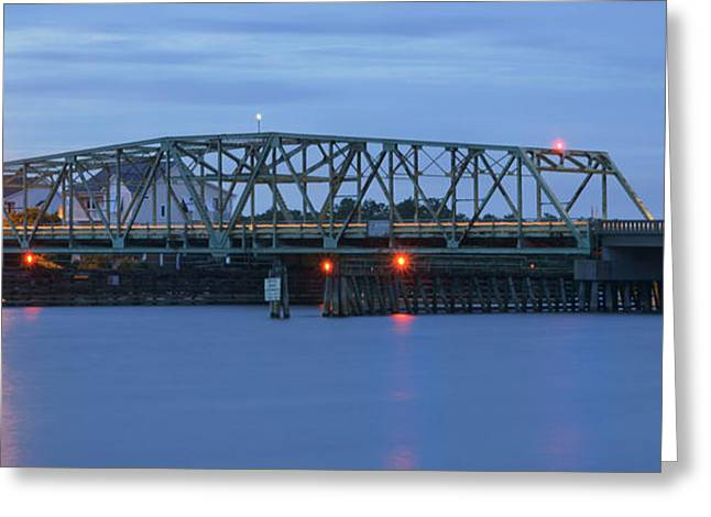Topsail Island Bridge Greeting Card by Mike McGlothlen