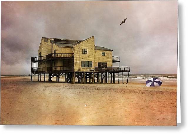 Topsail's Past II Greeting Card by Betsy Knapp