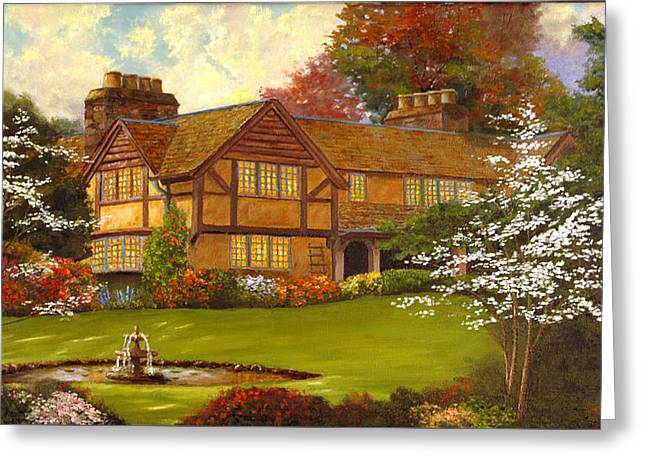 Topsmeade House Greeting Card by Rick Fitzsimons