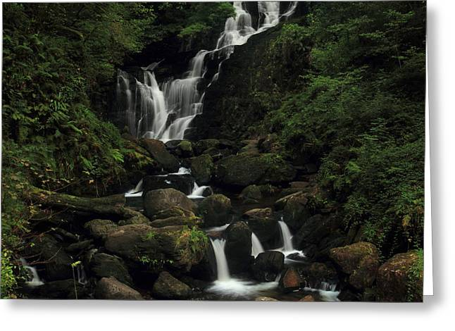Torc Waterfall Greeting Card by Peter Skelton