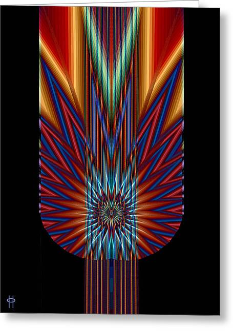 Torch Greeting Card by Jim Pavelle