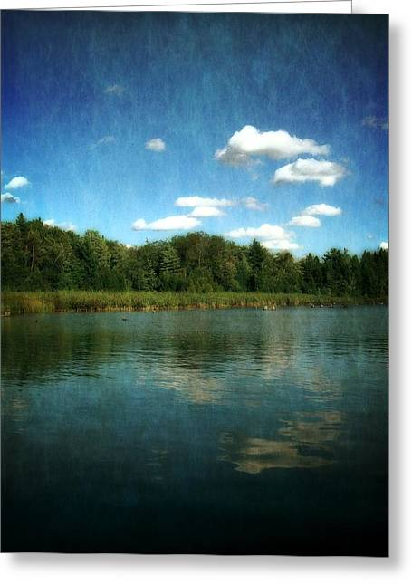 Torch River Reflections Greeting Card by Michelle Calkins