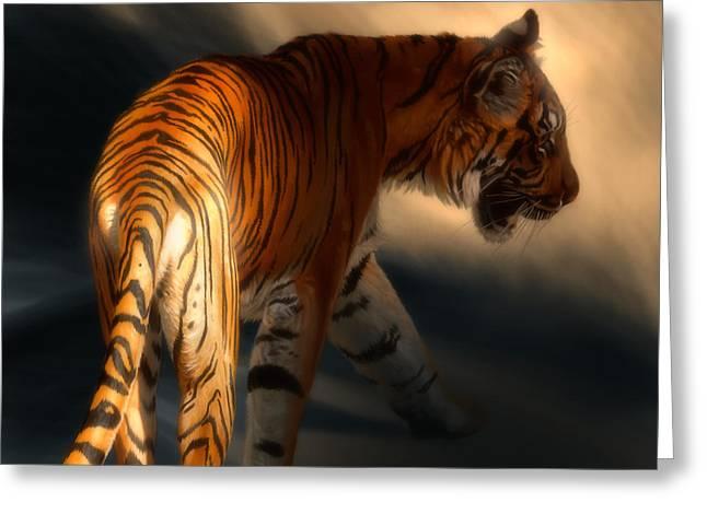 Torch Tiger 3 Greeting Card