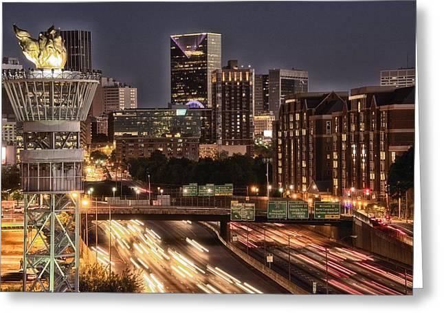 Torching Atlanta Greeting Card by Lisa Marie Pane