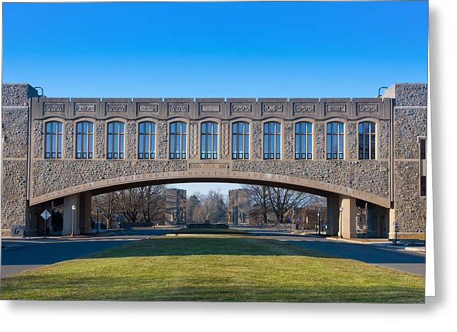Torgersen Hall At Virginia Tech Greeting Card