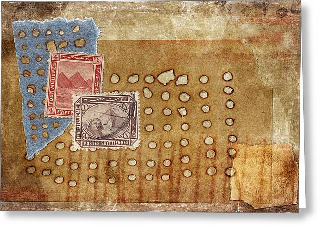 Torn And Burned Greeting Card by Carol Leigh
