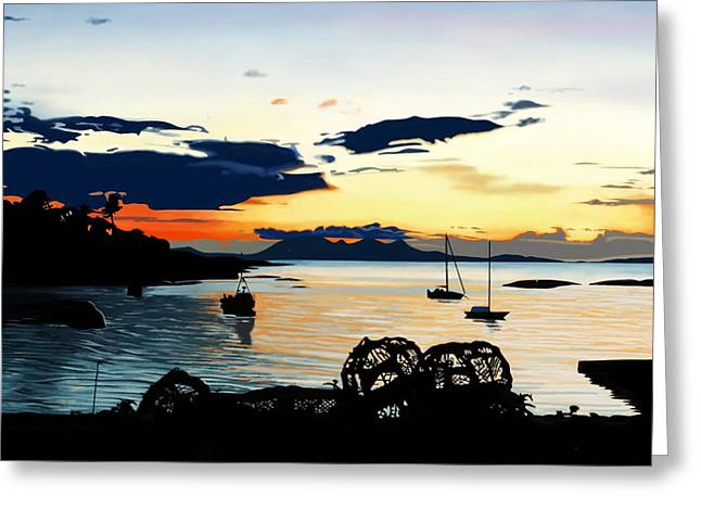 Torn Sunset Greeting Card by Andrew Harrison