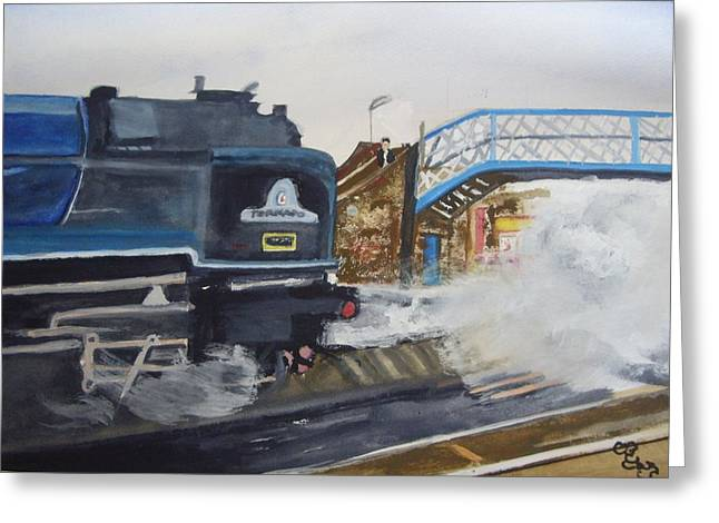Tornado And Chertsey Station Bridge Greeting Card