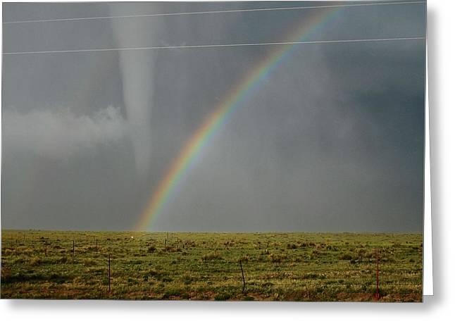 Tornado And The Rainbow Greeting Card