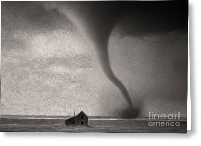 Tornado Greeting Card by Gregory Dyer