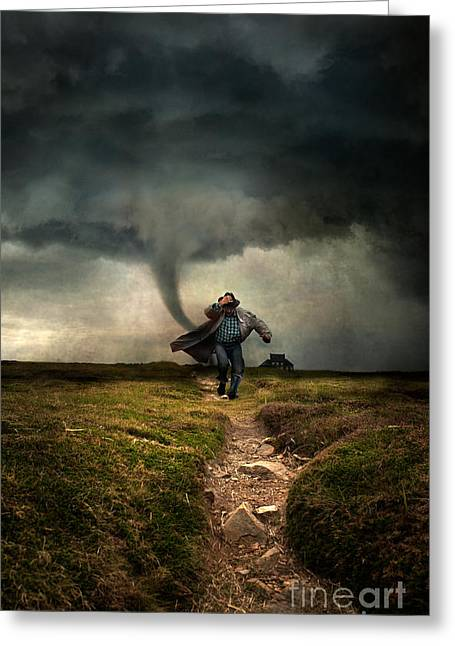 Tornado Greeting Card by Jaroslaw Blaminsky