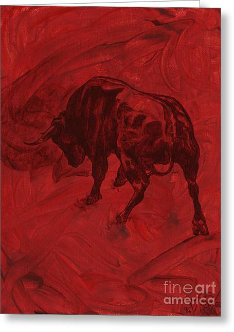 Toro Painting Greeting Card