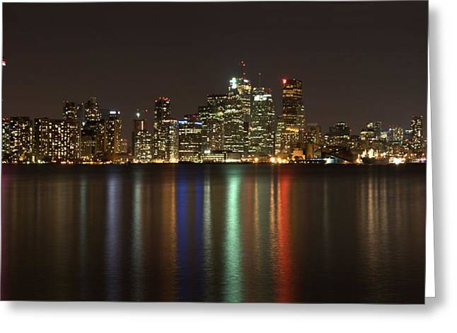 Greeting Card featuring the photograph Toronto At Night by Nick Mares