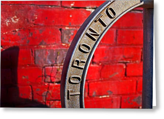 Toronto Bicycle Ring Greeting Card by Brian Carson