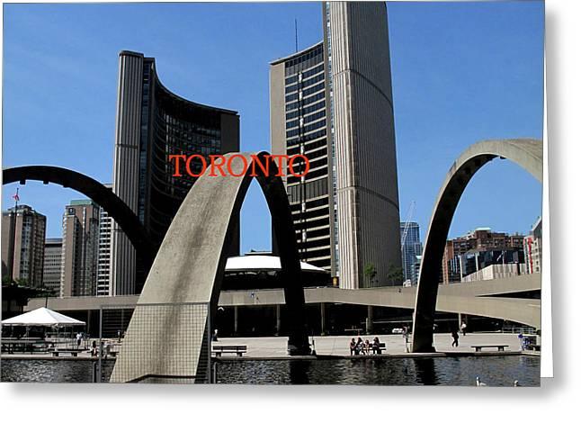Toronto City Hall Poster Greeting Card