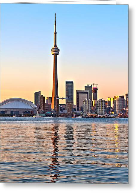 Greeting Card featuring the photograph Toronto City View by Marek Poplawski