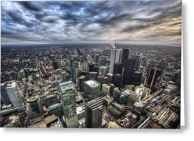 Greeting Card featuring the photograph Toronto Daybreak by Shawn Everhart