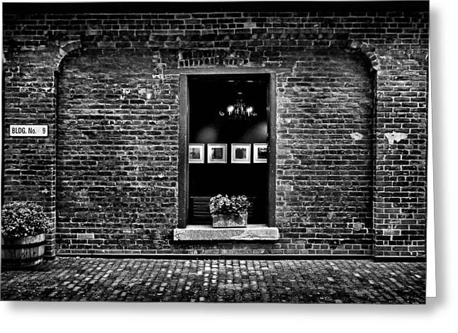 Toronto Distillery District Art Gallery Window Greeting Card by Brian Carson