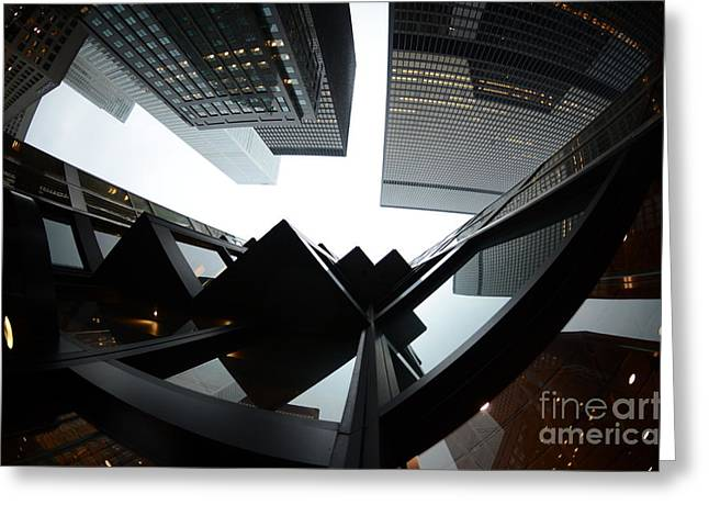 Toronto Financial District Greeting Card by Wayne  Cook