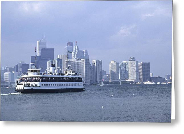 Toronto Island Ferry Greeting Card by Jim  Wallace