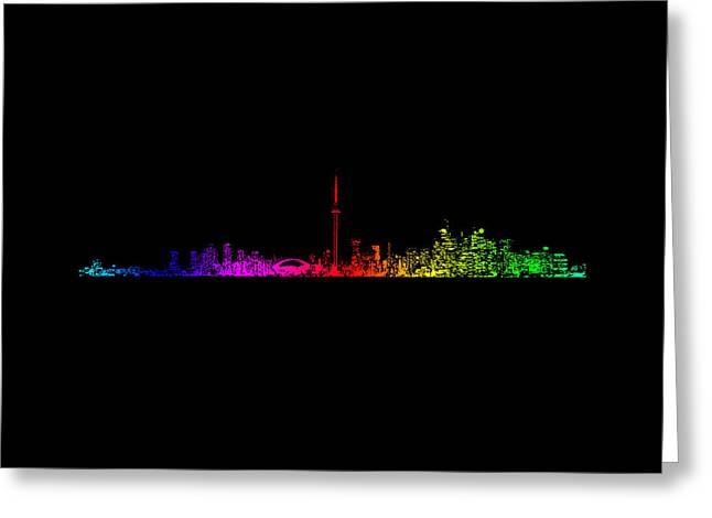 Toronto Rainbow Greeting Card by Brian Carson