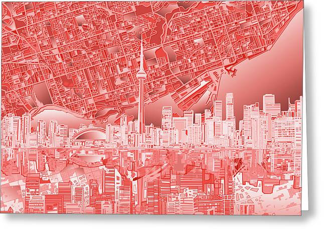 Toronto Skyline Abstract 3 Greeting Card