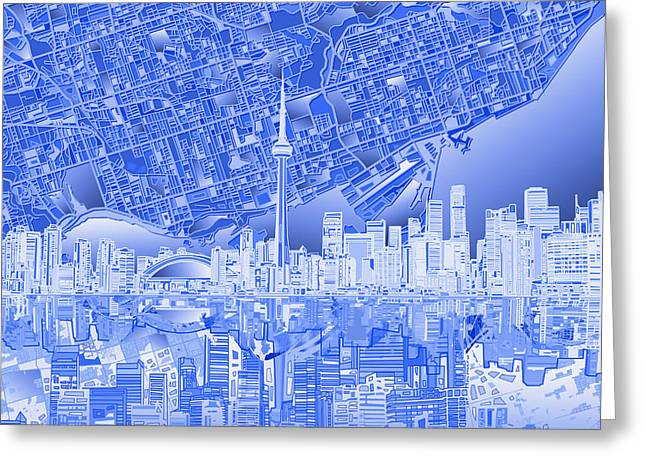 Toronto Skyline Abstract 4 Greeting Card