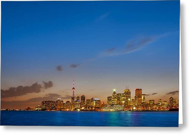 Toronto Skyline Greeting Card by Sebastian Musial