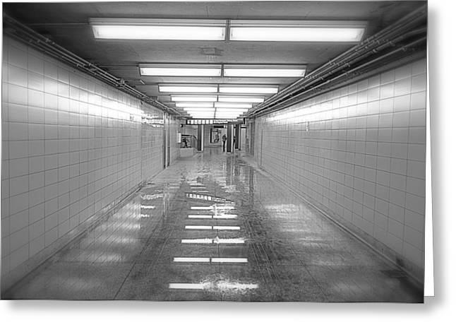 Toronto Subway Tunnel Greeting Card by Valentino Visentini