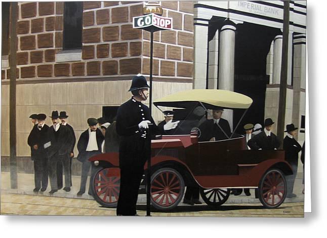 Toronto Traffic Cop 1912 Greeting Card by Kenneth M  Kirsch