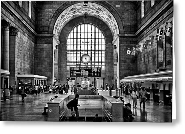 Toronto Union Station 323pm Greeting Card