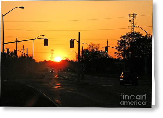 Greeting Card featuring the photograph Toronto - Urban Sunset by Phil Banks