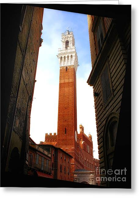 Torre Del Mangia Siena Greeting Card