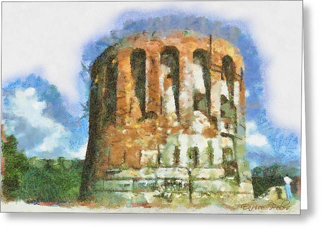 Torre  Quezzi 0880 - By Enrico Pelos Greeting Card