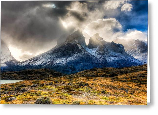 Torres Del Paine 1 Greeting Card by Roman St