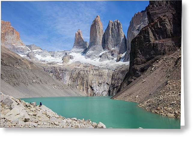 Torres Del Paine Mountains Greeting Card by Peter J. Raymond