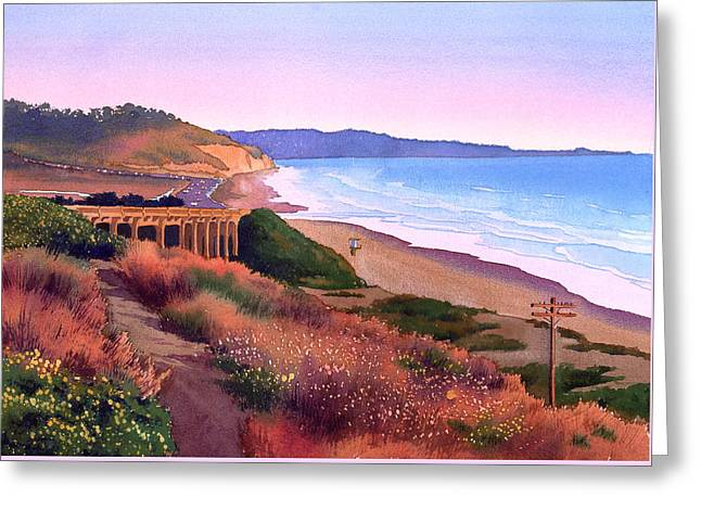 Torrey Pines Dusk Greeting Card