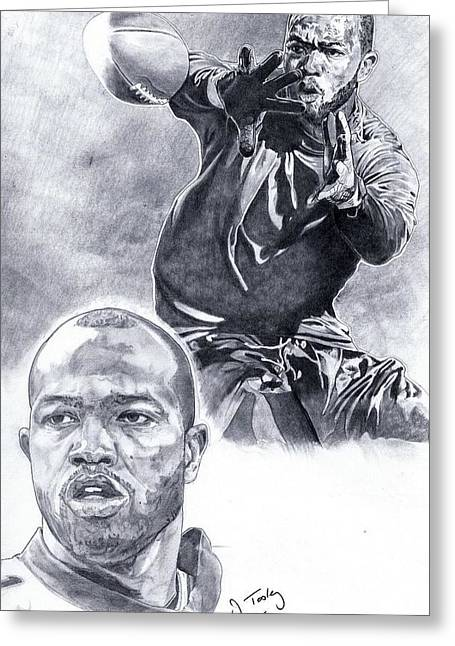 Torry Holt Greeting Card by Jonathan Tooley