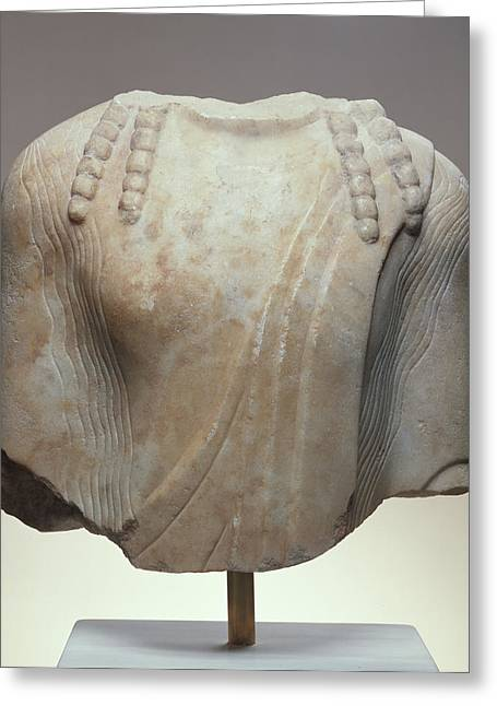 Torso Of A  Kouros Unknown Chios  About 520 B Greeting Card