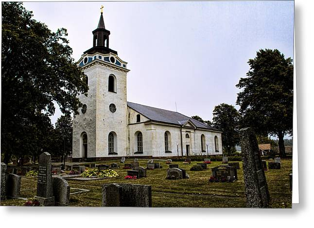 Torstuna Kyrka Church Greeting Card by Leif Sohlman