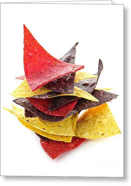 Tortilla Chips Greeting Card by Elena Elisseeva